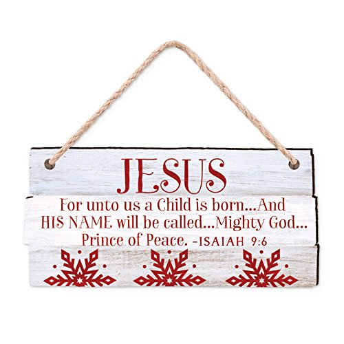 Christian Christmas Decorations (Lighthouse Christian Products Rustic Country Jesus Christmas Ornament)