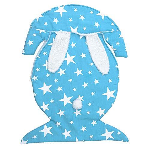 Sleeper Co Universal (LBAFS Newborn Baby Blanket - Autumn Winter Rabbit Swaddle Wrap Soft Warm Bed Baby Stroller Sleeping Bag,Blue)