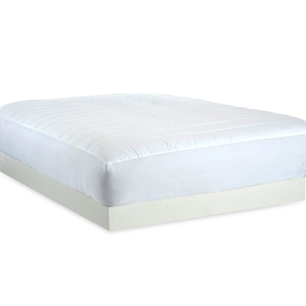 Mattress Pad. 100% Cotton Top With Hypoallergenic, Soft Polyester Fiber Fill Topper Pillow For Deep Healthy Sleep. Washable Protection Cover Protects Bed From Dirt, Dust, Stains & Wetness. (King)