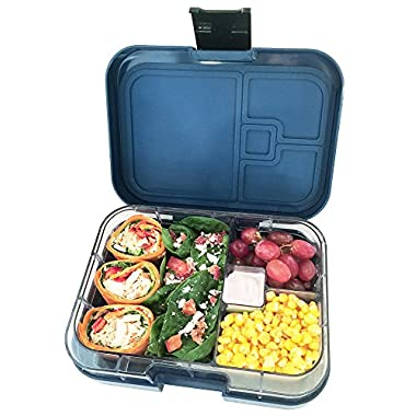 Bentoful Leakproof Bento Lunch Box, Air Tight with 4 Food Storage Compartments for Kids and Adults to Keep Their Meals Fresh & Organized. 2 Free Bento Recipe Ebooks Included..