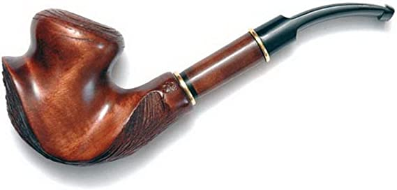 Pear Wood Hand Carved Tobacco Smoking Pipe DALI #2 Pouch