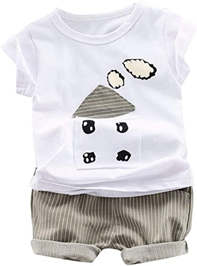 2pcs Summer Boys Clothing Sets Kids Baby Cartoon Casual Cotton Toddler Outfits