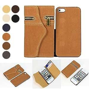 GONGXI-2 en 1 diseño estilo billetera de cuero de la PU caso de cuerpo completo para iphone 5 / 5s (colores surtidos)