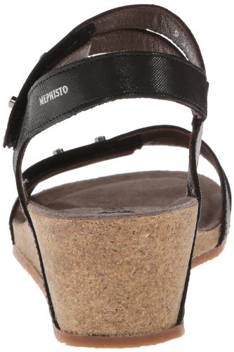 Sandals Leather Mephisto Minoa Black Womens qptTxH