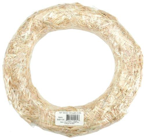 FloraCraft Straw Wreaths, 10-Inch Straw -