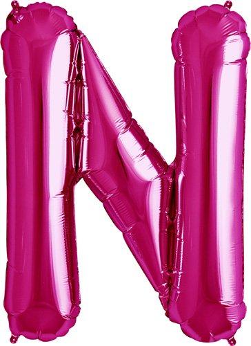 NorthStar Foil Balloon 000183 Letter N - Magenta, 34
