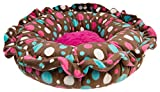 BESSIE AND BARNIE Ultra Plush Cake Pop/Lollipop (Patch) Luxury Shag Deluxe Dog/Pet Lily Pod Bed For Sale