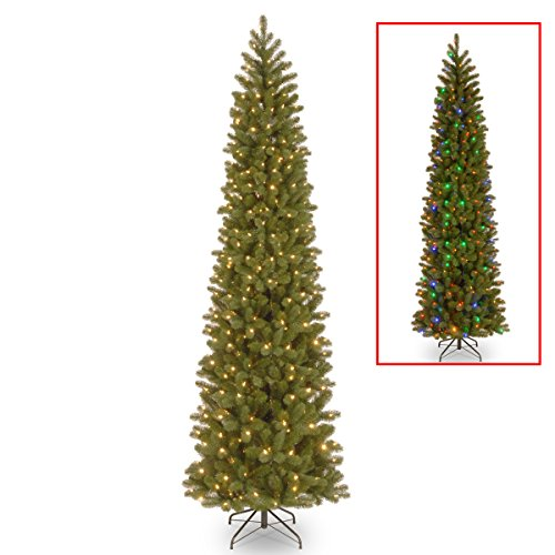 National Tree 9 Foot Downswept Douglas Fir Pencil Slim Tree (Tree Christmas Prelit 9ft)