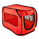 Pet Carrier by Everyday Low Prices, Soft Sided Pet Carrier with Dog Car Barrier, 2 Pack Set of Pet Barrier and Dog Carrier – Red and Black – 2 Pieces