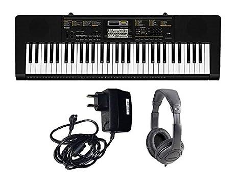 Casio Juego CTK2400 teclado 61 teclas/Fuente/gorro Bundle: Amazon.es: Instrumentos musicales