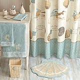 Coastal Beach Fabric Shower Curtain