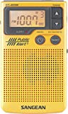 Sangean DT-400W AM/FM Digital Weather Alert Pocket Radio (Renewed)