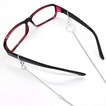 ASTOFLI Eyeglass-Chains Eyewear Accessory Stainless Steel Reading Glasses Retainer Silver Color Sunglasses Strap Holder