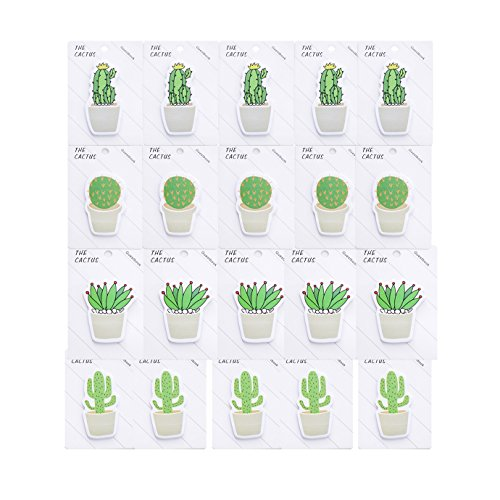 Kennedy Creative Fresh Cactus Shaped Sticky Notes, Convenient Memo, 20Pads/ Pack