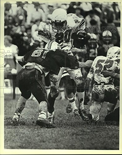 Ball Tmi (Historic Images 1984 Press Photo TMI and San Marcos Academy High School Football Players at Game - 10 x 8 in)