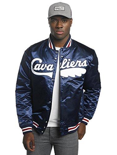 Bomber College Nba Cavaliers Cleveland Jacke Hwc amp; Wordmark Ness Mitchell Jacket Navy Satin q8aAa