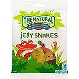 自然菓子共同ゼリー蛇の160グラム (x 4) - The Natural Confectionery Co Jelly Snakes 160g (Pack of 4) [並行輸入品]