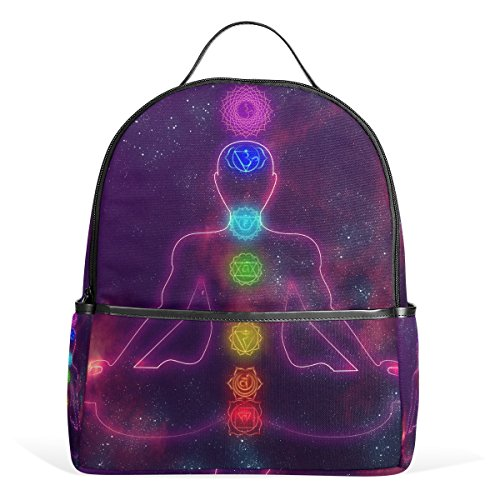 Of Daypack for Bag Laptop Student TIZORAX Chakras Backpack Shoulder Handbag System Lightweight Casual Human School Zq7zw87E