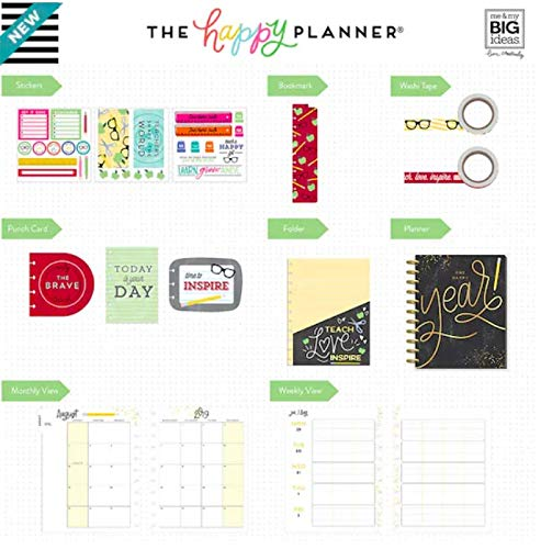 Big Teacher Happy Planner Box Kit - 12 Month (2019-2020), Create 365 Teacher Planner by Create 365 (Image #1)
