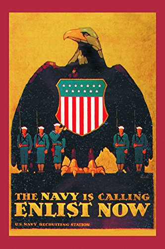 Navy is Calling - Armed Forces Matte Poster Print Wall Art