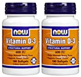 Cheap NOW Foods Vitamin D-3 400 IU Softgels, 2 pk