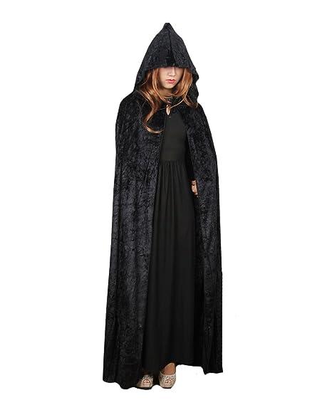 Orfila Women Full Length Halloween Cloak Masquerade Velvet Hooded Cape Robe Drama Cosplay Costumes Witch Wizard  sc 1 st  Amazon.com & Amazon.com: Orfila Women Full Length Halloween Cloak Masquerade ...