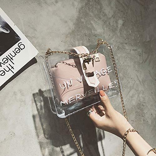 Bolsos La Con Jalea Pequeño De Cosmético Transparente Pvc Pink Set Bolsa Las Prueba A Playa Mujeres Hombro Natación Agua Pink Mujer Muchacha Bolso Moda Mensajero color nX5xqq0w