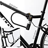 Bike U Lock with Cable - Via Velo Heavy Duty