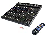 Package: Peavey PV 14AT PV14AT Mixer With 8 Mic In, Bluetooth, USB, Compressor/Effects + 4 Channel AutoTune + Mr. Dj 25' XLR Female to Male Low Z Mic Cable