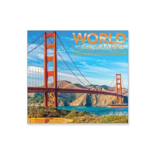 16 Month Wall Calendar 2019 World Landmarks. Each Month Displays Full-Color Photograph. September 2018 - December 2019 Planning Calendar