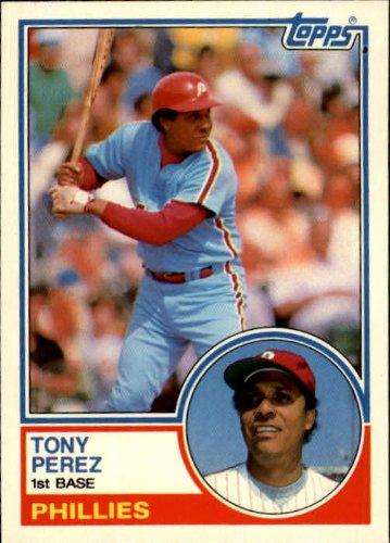 (1983 Topps Traded Baseball Card #85T Tony Perez)