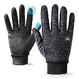 Running Winter Gloves Outdoor Touch Screen Waterproof for Women Men Smartphone Driving Cycling