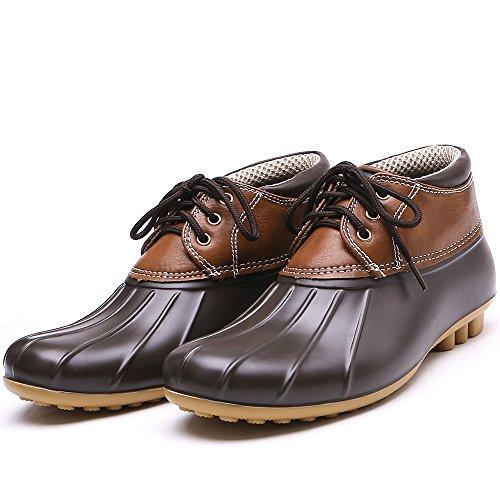 Outdoor Waterproof Stylish Climbing Brown Patchwork Boots Rain Women's Booties TONGPU wH05xX1qc
