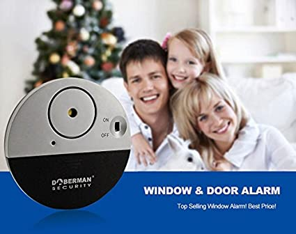 Doberman Door Window Slim Vibration Sensors Alarm System