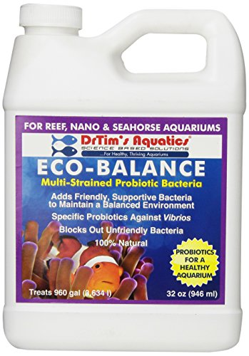 DrTim's Aquatics Eco-Balance Multi-Strained Probiotic Bacteria for Reef and Nano Aquarium, 32-Ounce