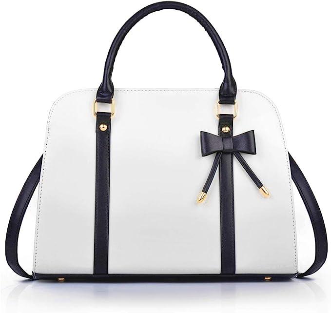 Vintage Handbags, Purses, Bags *New* COOFIT Lady Handbag Little Bow Leisure Top-Handle Bags Shoulder Bag Purses and Handbags(White) $30.99 AT vintagedancer.com