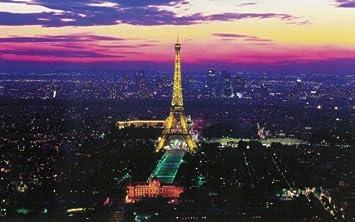 (99x164) Paris Lights Eiffel Tower Huge Wall Mural Part 32