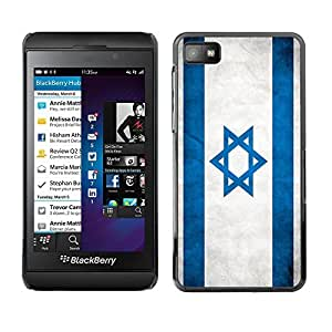 Shell-Star ( National Flag Series-Israel ) Snap On Hard Protective Case For BackBerry Z10