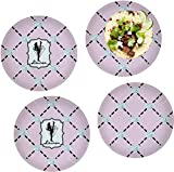 Diamond Dancers Set of 4 Lunch / Dinner Plates (Glass) (Personalized)