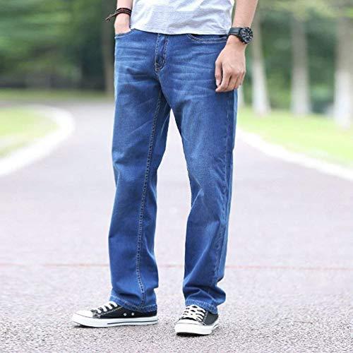 Cowboy Abbigliamento Allentati Larghi Jeans Adelina Pantaloni Dritta Pantalone Gamba Denim T Uomo Mittenblau A Casual qS1nAYBU