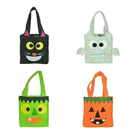 LALLing 4Pcs Bolso de Halloween Bolsa de Dulces de Dibujos ...