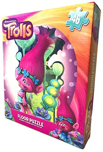 [DreamWorks Trolls Floor Puzzle 24in x 36in] (Easy Homemade Adults Halloween Costumes)