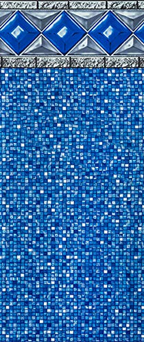 Vinyl Gauge Liner 25 (Smartline 18-Foot Round Crystal Tile Liner | UniBead Style | 52-Inch Wall Height | 25 Gauge Virgin Vinyl | Designed for Steel Sided Above-Ground Swimming Pools)