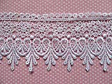 YYCRAFT 5 Yards White Lace Edge Trim Wedding