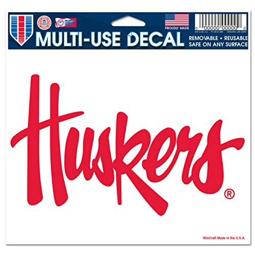 WinCraft NCAA University of Nebraska Multi-Use Colored Decal, 5