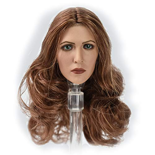 HiPlay 1/6 Scale Female Figure Head Sculpt, Long Hair, Doll Head for 12