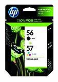 HP 56 Black & 57 Tri-color Original Ink Cartridges, 2 pack (C9321FN)