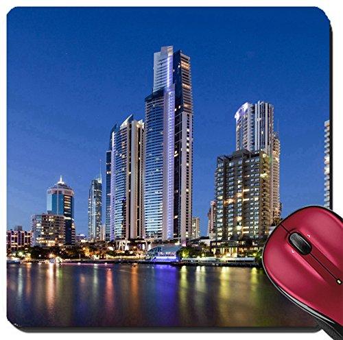 Liili Suqare Mousepad 8x8 Inch Mouse Pads/Mat IMAGE ID: 7404612 Stars and Twilight at Surfer Paradise Gold Coast - Sales Gold Australia
