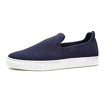 Zapatos YIXINY Deporte H30M7105 Carrefour Planos Cabeza Redonda Conjunto De Pies Casuales Moda Lona Alpargatas Azul