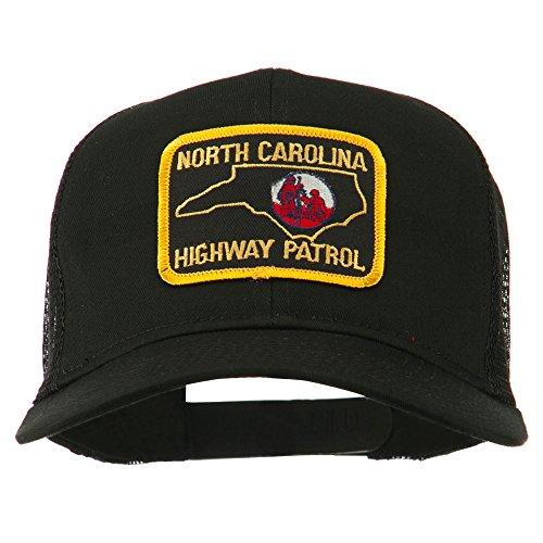 Highway Patrol Hats - North Carolina Highway Patrol Patched Mesh Cap - Black OSFM